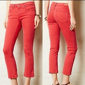 Pilcro and the Letterpress Stet Red Cropped Jeans